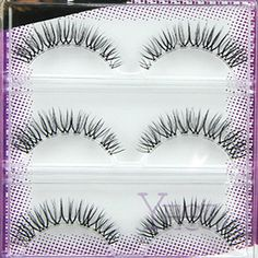 26e7f033db9 3Pair Lengthening Natural Cross Fake Eyelash Thick Long False Eyelashe Long  Eyelashes Set Eye Lash Voluminous
