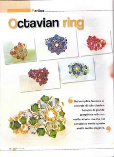 many beautiful beaded rings with directions