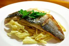 Pan Fried Sea Bass over Warm Celeric Remoulade