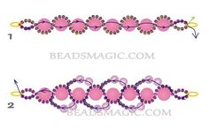 Free pattern with detailed written instructions for beaded necklace Peach Delight U need: seed beads pearl beads 8 mm pearl beads 4 mm Start raw 1 with 2 needles. String on the thread 4 seed Beading Patterns Free, Seed Bead Patterns, Beading Tutorials, Free Pattern, Beaded Necklace Patterns, Beaded Necklaces, Seed Bead Bracelets, Seed Beads, Bead Weaving