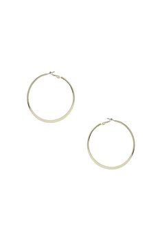 Flat Hoop Earrings - Jewellery - Bags & Accessories - Topshop