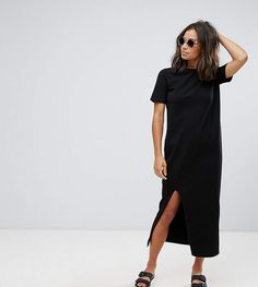 aa04f49e4ae Asos DESIGN Petite ultimate t-shirt maxi dress - ShopStyle Day