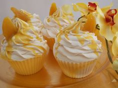 Lemon Meringue Pie soap cupcakes