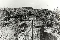 The ruins of the Warsaw Ghetto right after World War II. (Wk 16, 17, 21)