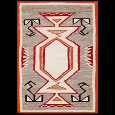"""1920's unique Navajo Rug! 3'1""""x 4'3"""" SKU# RADR-19358"""