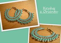 Hoop earrings - Obšité kruhy - brick stitch Brick Stitch, Beading, Hoop Earrings, Jewelry, Beads, Jewlery, Jewerly, Schmuck, Jewels