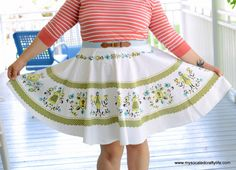 Vintage Tablecloth Skirt Pattern   AllFreeSewing.com