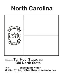North Carolina State Flag Coloring Page NorthCarolina