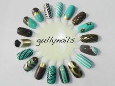Gully Nails  Like the angled one with China Glaze foie gras