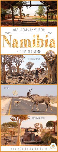 Auf Reisen erkundige ich mich oft bei Locals über ihr Land. Das hilft mir in keine Fettnäpfchen zu treten, sicher zu reisen und die schönsten Plätze zu entdecken. Glücklicherweise habe ich liebe Freunde, die aus Namibia stammen und mir auch vorab schon verraten haben, worauf es in ihrer Heimat ankommt! Glenn kenne ich auch aus meiner Zeit in Kapstadt. Er war mein Barkeeper in meiner Stammkneipe und ist inzwischen wieder zurück in seiner Heimat.
