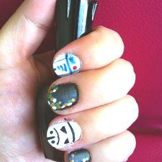 Made my storm trouper / R2D2 nails!!!    #starwars