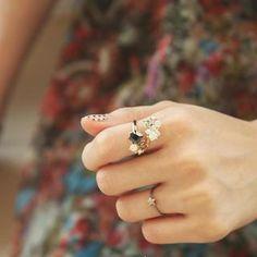 Swarovski Crystal Stone Ring from #YesStyle <3 kitsch island YesStyle.co.uk