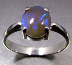 cab crystal opal silver ring size 9 ck