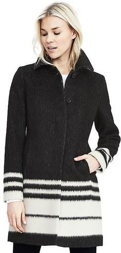 Love this wool coat for winter! Wear this any day of the work week during chilly days. Outfits 2016, Cute Outfits, Tailored Coat, Work Suits, Modern Outfits, New Wardrobe, Wool Coat, My Outfit, Tunic Tops