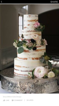 totally cool looking cake for a rustic wedding! Looks like birch bark!