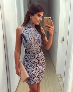 """9,366 curtidas, 61 comentários - Blog Trend Alert (@arianecanovas) no Instagram: """"{Blue Lace } Vestido @desnude todo de renda!"""""""