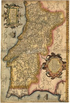 When it comes to Portugal, history becomes romantic, intriguing and inspiring. Lying on the Iberian Peninsula, in Western Europe, Portugal has gifted much to the world. Ancient Maps, Ancient History, Portuguese Empire, Portuguese Culture, Vintage Maps, Antique Maps, Algarve, History Of Portugal, Visit Portugal