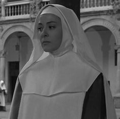 Silvia Pinal as Viridiana in VIRIDIANA (1961) directed by Luis Buñuel and Pinal on production with her husban Alatriste.