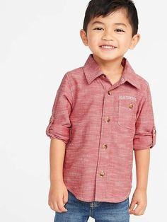 Old Navy Toddlers' Graphic Roll-Sleeve Pocket Shirt Robbie Red Regular Size Toddler Girl Gifts, Toddler Boy Fashion, Toddler Girl Style, Baby Girl Fashion, Toddler Dress, Toddler Boys, Maternity Shops, Shop Old Navy, How To Roll Sleeves