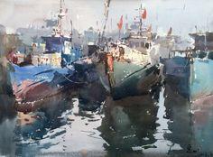 """Memory of Fishery Harbor"" Shang Baogang"