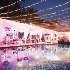 Beautiful pool side wedding