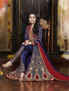 Anarkali Salwar Kameez Suit Indian Pakistani Designer Wear Ethnic Party Dress #JiluCreation #AnarkaliSalwarKameez