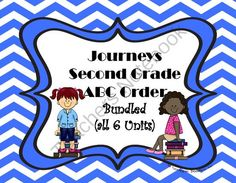 Journeys Second Grade ABC Spelling Words from each story from Teaching Second Grade on TeachersNotebook.com (38 pages)  - Journeys Reading Second Grade ABC Order BUNDLED All 30 stories in book ~ Cut and Paste Printables  SAVE $4.00 by buying them in this bundle!  The stories included are:  Unit 1 #1 Henry and Mudge #2 My Family %