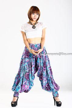 Glamourous Full Pleated Arabian Harem Pants by Justharempants