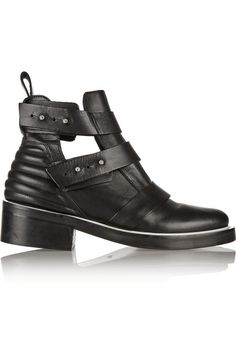 Maje Cutout leather ankle boots