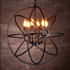 Lustre EXPLORER 24 Lampes au Style Industriel et Spatial en Métal