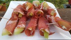 Szynka zawijana z melonem i serem pleśniowym - Swojskie jedzonko Tuna, Fish, Meat, Atlantic Bluefin Tuna