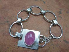 Sterling Silver Bracelet with Handmade Toggle via Etsy