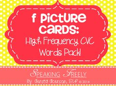 Ever wanted a great set of articulation cards filled with carefully selected words? Then this is the pack for you! Words for initial, medial, & final positions. Each word is a high frequency word to help ensure carryover. All initial & final position words are one-syllable CVC words. Medial position words are all two-syllable, high frequency words. Great for children who are just beginning to use the target sound at the word level! Get it now for $3! Stay tuned for future packs!