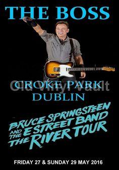 Bruce Springsteen Concert Poster Croke Park Dublin 2016 A3 Size Repro | eBay