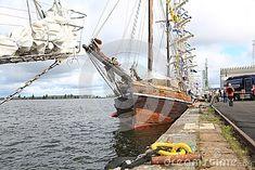 Finnish sailing ship Vivan moored in Kotka near Vellamo maritime center. Time of the regatta THE TALL SHIPS RASES Kotka 2017. Kotka, Finland