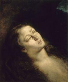 Eugène Delacroix (1798-1863).  Madeleine dans le désert, 1845, Huile sur toile, Musée Eugène Delacroix. http://www.musee-delacroix.fr/fr/les-collections/peintures/