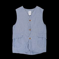 UNIONMADE - Post Overalls - Royal Traveler Vest in Southern Chambray Indigo