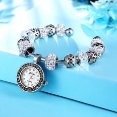 New DIY Crystal Beads Bracelets For Women Bracelet Watch Duoya Brand Fashion Women Dress Quartz Wristwatch Luxury Clock Watch