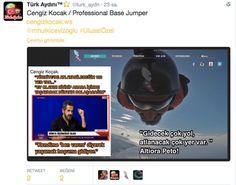 Türk Aydını™⭐️ @turk_aydn   Cengiz Kocak / Professional Base Jumper http://www.cengizkocak.ws  @mhulkicevizoglu #UlusalÖzel