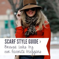An entire resource of style bloggers wearing scarves! LOVE @ScarvesDotNet