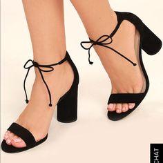 Steve Madden Black Suede Lace-up Heels Lace Up Sandal Heels, Dress Sandals, Shoes Heels, Leather And Lace, Suede Leather, Black Suede, Sneaker Heels, Sneakers, Formal Shoes