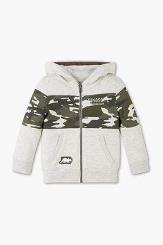 Children – Zip-up hoodie – camouflage – marina raurich – Join in the world of pin Toddler Fashion, Boy Fashion, Baby Boy Outfits, Kids Outfits, Baby Dress Design, Baby Coat, Camouflage, Winter Kids, Baby Kids Clothes