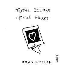 Bonnie tyler. Total Eclipse Of The Heart. 365 illustrated lyrics project, Brigitte Liem.