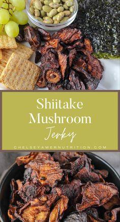 Mushroom Jerky Recipe, Mushroom Recipes, Nut Free, Dairy Free, Gluten Free, Jerky Recipes, Salty Snacks, Baking Sheet, Food 52