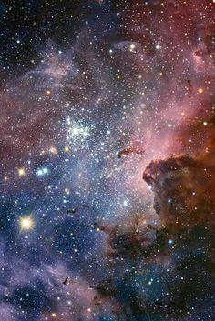Majestic Colored Purple Nebula