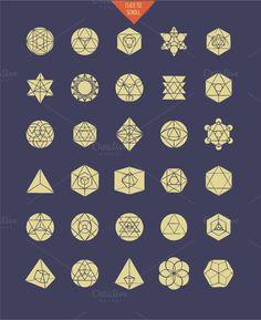 Geometric set - Creative market