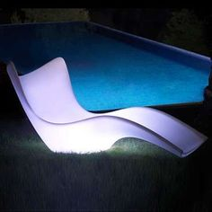 The Surf Sun Chaise from Y Living - made in Spain and is designed to mimic the movement of ocean waves. This luxurious LED seating can be yours at a price of $2,521.00.