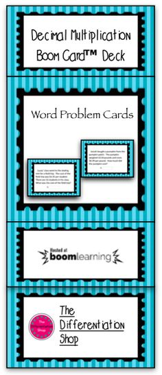 This 20 card Boom Card Deck is great for applying the skill of decimal multiplication! Key words are bolded and underlined for added support! Math Activities For Kids, Teacher Resources, Classroom Resources, Math Classroom, Math Games, Card Deck, Deck Of Cards, Decimal Multiplication, Multiplying Decimals