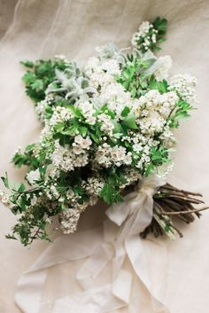 Woodland Bouquet of Flowering White Branches | Ashley Ludaescher Photography | http://heyweddinglady.com/20-bouquets-spring-garden-wedding/
