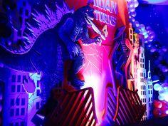 Mimel N's Birthday / Godzilla - Photo Gallery at Catch My Party Godzilla Party, Godzilla Birthday Party, Summer Parties, Jasper, Photo Galleries, Birthday Parties, Party Ideas, Neon Signs, Birthday Celebrations